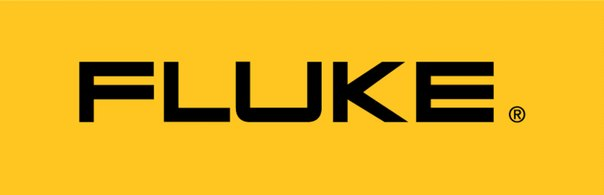 fluke yellow background and black bolded company logo